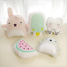 Load image into Gallery viewer, Totoro Tooth Watermelon Ice Cream Cushion Baby Stuffed Pillow Toys