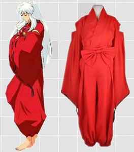 Anime Inuyasha Cosplay Costume Full Set Kimono Halloween Costume