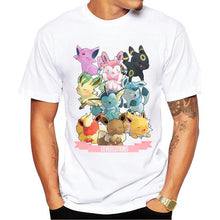 Load image into Gallery viewer, Pokemon Eeveelutions Harajuku Anime T-Shirt