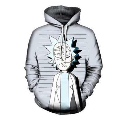 Rick And Morty Funny Mugshot Anime Hoodie