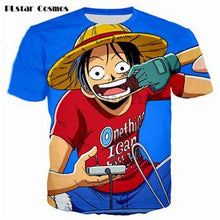 Load image into Gallery viewer, One Piece 3D Hipster Ace Summer T-Shirt 8 Styles