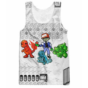 Pokemon Old School Gameboy Anime Tank Top