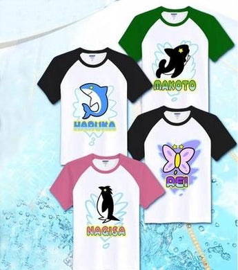 Iwatobi Swim Club Anime T-Shirt 4 Color Styles