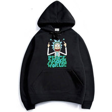Load image into Gallery viewer, Rick And Morty Peace Among Worlds Anime Hoodie