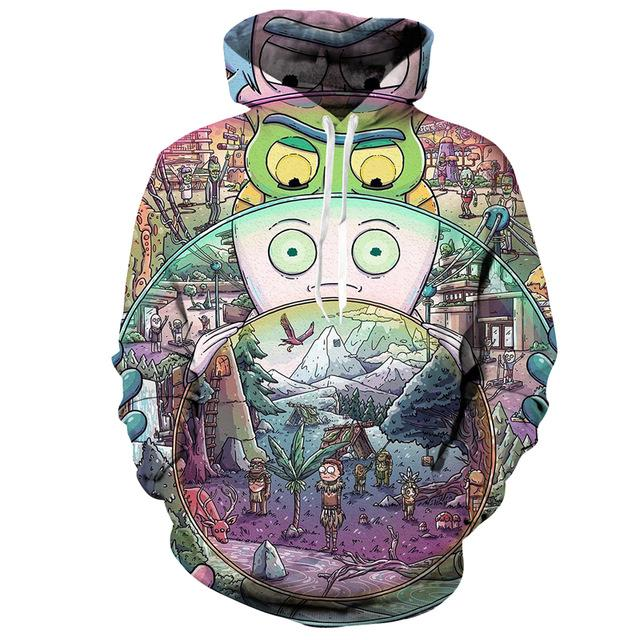 Rick And Morty Hoodie Jacket Anime Pullover