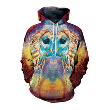 Load image into Gallery viewer, Wild Wildlife Colorful 3D Fashion Wolf Print Hoodie