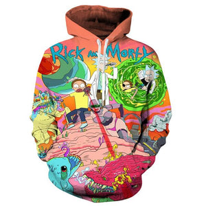 Rick And Morty Winter Pullover Sweatshirt Hoodie