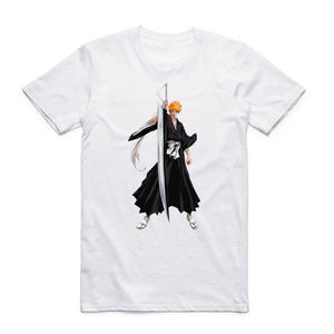 Bleach Japan Anime White T-Shirt 12 Styles