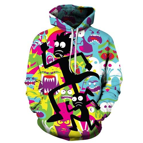 Rick And Morty Sweatshirt Pullover Colorful Hoodie