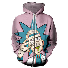 Load image into Gallery viewer, Rick And Morty Faded Trippy Anime Hoodie