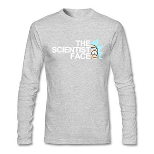 Rick And Morty Scientist Face Long Sleeve T-Shirt