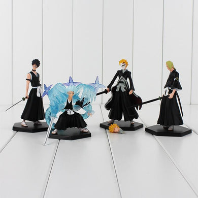 Bleach 4 Piece Action Figure Set Kurosaki Ichigo Anime