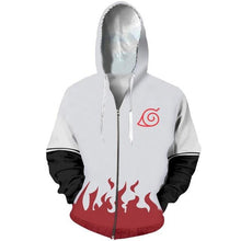 Load image into Gallery viewer, Naruto Streetwear Flames Hoodie Sweatshirt Jacket