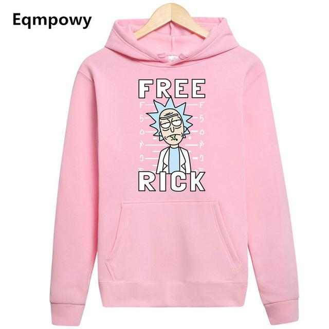 Rick And Morty Free Rick Funny Pullover Hoodie