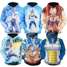 Load image into Gallery viewer, Dragon Ball Z 3D Print Hoodie Sweatshirt  Goku Vegeta