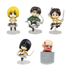 Load image into Gallery viewer, Attack On Titan 5 Piece Set Action Figures Shingeki No Kyojin