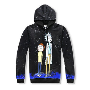 Rick And Morty Streetwear 3D Fashion Hoodie