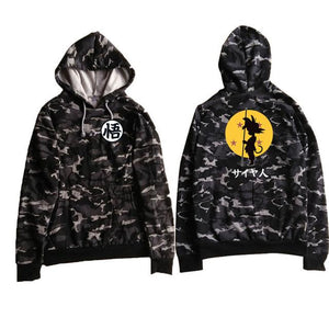 Camo Dragon Ball Z Hoodie Jacket Naruto