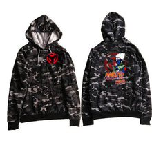 Load image into Gallery viewer, Camo Dragon Ball Z Hoodie Jacket Naruto
