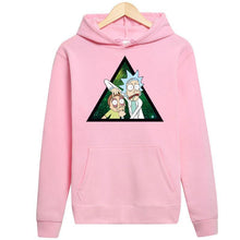 Load image into Gallery viewer, Rick And Morty Triangle Funny Streetwear Hoodie