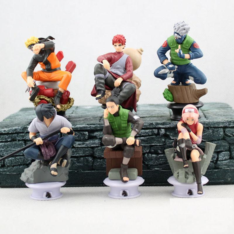 6 Piece Naruto Action Figure Set Anime
