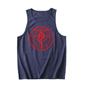 Fullmetal Alchemist Cotton Fitness Anime Tank Top