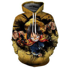 Load image into Gallery viewer, One Piece Luffy Sweatshirt Pullover Jacket Anime Hoodie