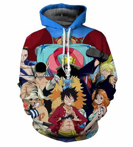 One Piece All Characters Luffy Anime Hoodie
