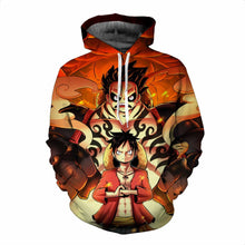 Load image into Gallery viewer, One Piece 3D Luffy Fashion Anime Hoodie