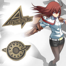 Load image into Gallery viewer, Anime Steins Gate Makise Kurisu Labmen Badges Pin Brooch Cosplay