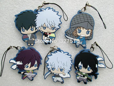 5pcs Gintama Pendant Key Chain Figures