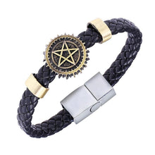 Load image into Gallery viewer, Black Butler Alloy Bracelets Weave Leather Band