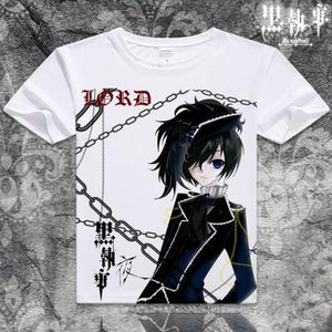 Black Butler Short Sleeve Anime T-Shirt V11