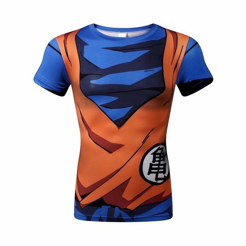 Dragon Ball Z 3D Short Sleeve Armor Anime T-Shirt V11
