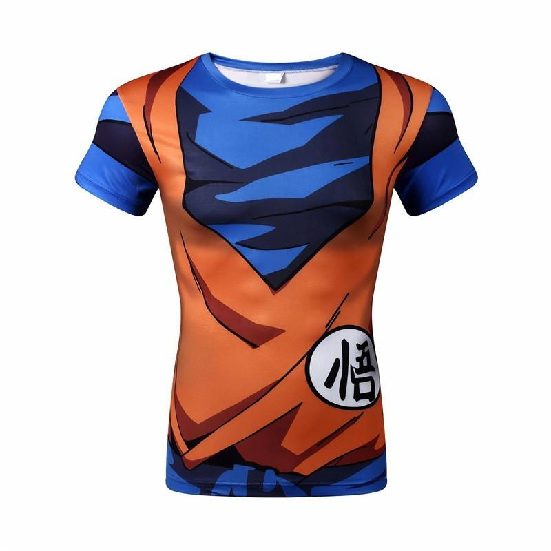 Dragon Ball Z 3D Short Sleeve Armor Anime T-Shirt V13