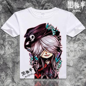 Black Butler Short Sleeve Anime T-Shirt V4