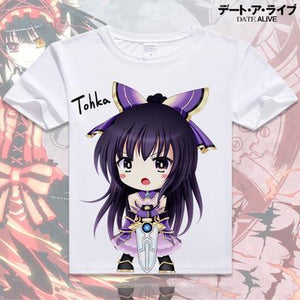 Date A Live Short Sleeve Anime T-Shirt V6