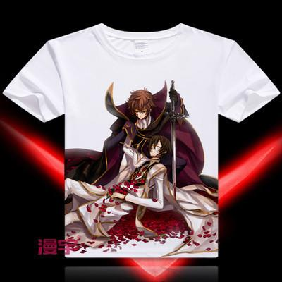 Code Geass Short Sleeve Anime T-Shirt V6