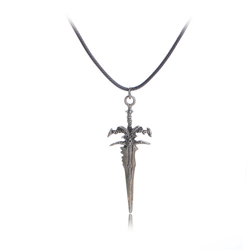 World Of Warcraft Necklace Frostmourne Metal Alloy Pendant Necklace