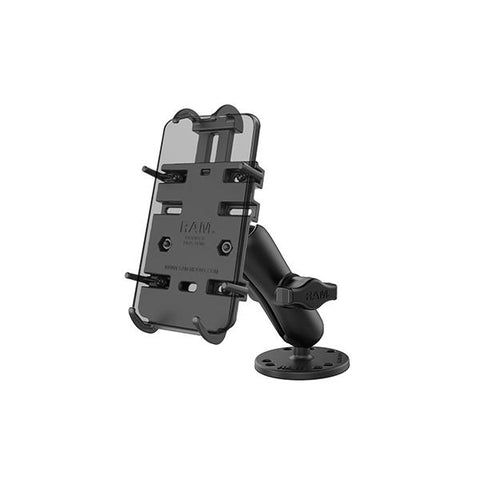 RAM® Quick-Grip Spring-Loaded Phone Mount with Drill-Down Base (RAM-B-138-PD3U)