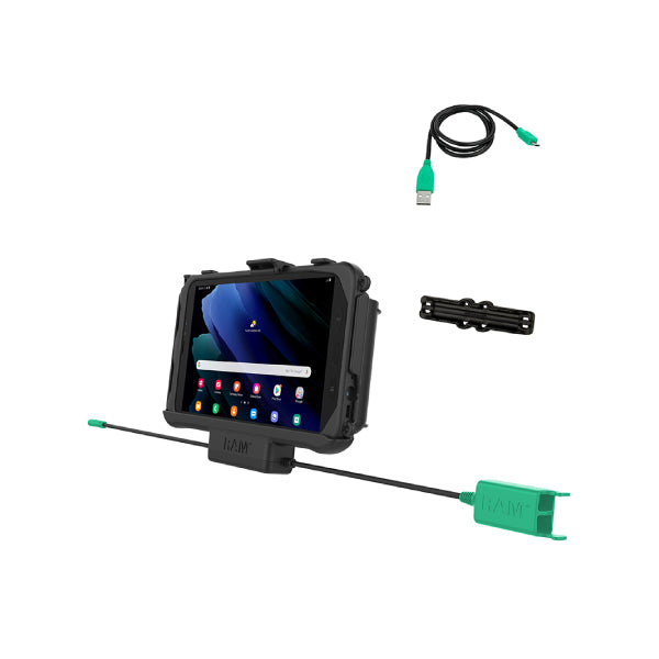 RAM-HOL-SAM60PD2U RAM EZ Roll'r Dual USB Cradle for Samsung Tab Active3 and Tab Active2-image-1