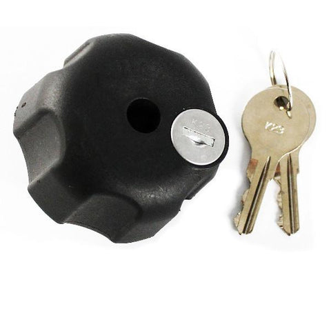 RAM Locking Knob w/ 1/4-20 Brass Hole for B Size Arms (RAM-KNOB3LU) - Image1