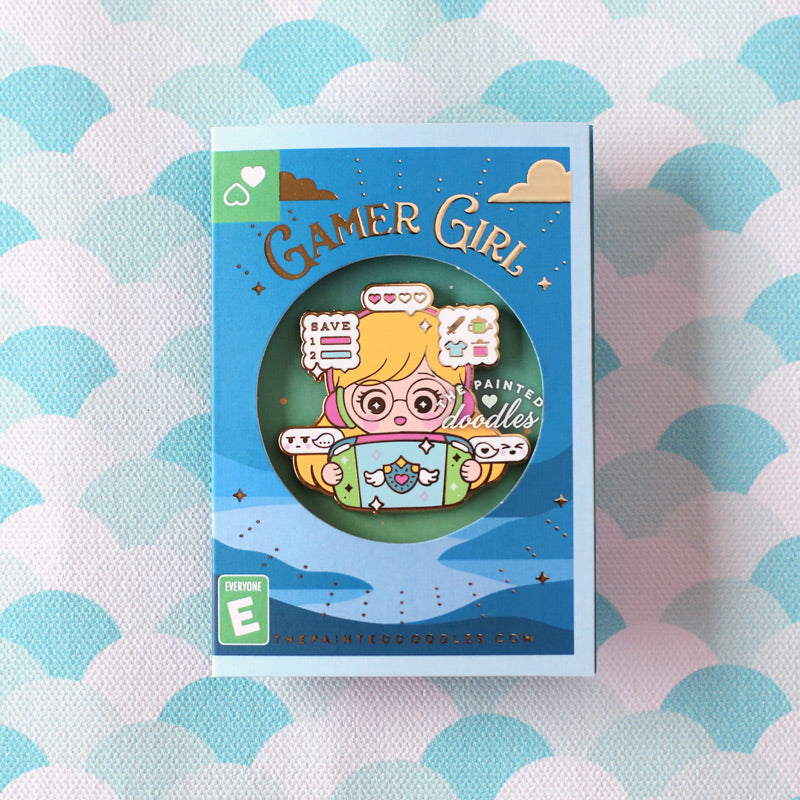 Gamer Girl Enamel Pin: RPG