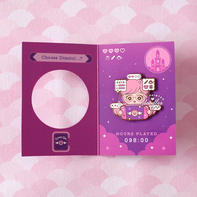 Gamer Girl Enamel Pin: Visual Novel (B GRADE)