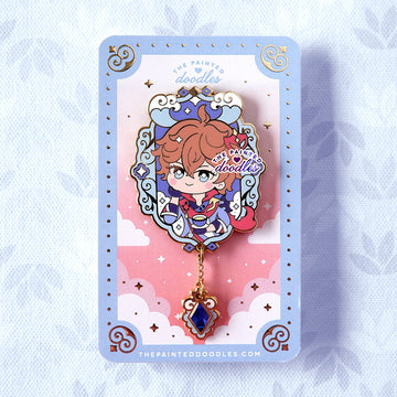Genshin Impact Enamel Pin: TeaTime with Childe