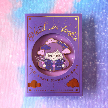 Head in Fanfics Enamel Pin: Slow Burn v1