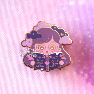 Head in Fanfics Enamel Pin: Slow Burn v2 (B GRADE)