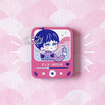 Player No. 9 Wooden Pin