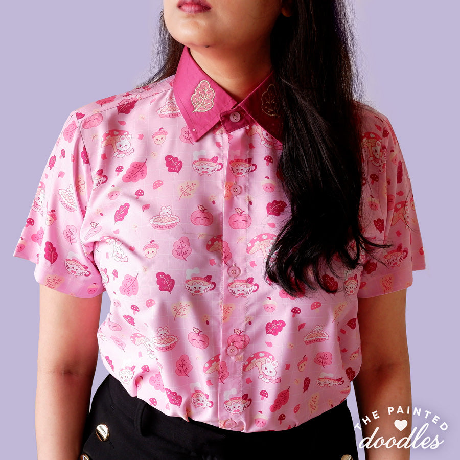 Cozy Autumn Buns Shirt - Baby Pink
