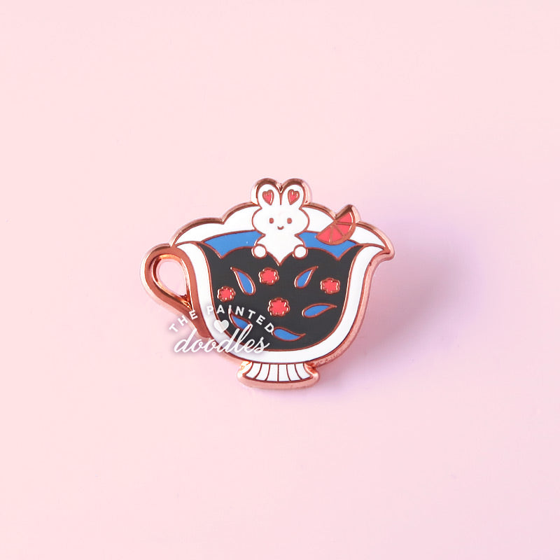 RIGHT SIDE Tea Buns Collar Pin (Single Cup)